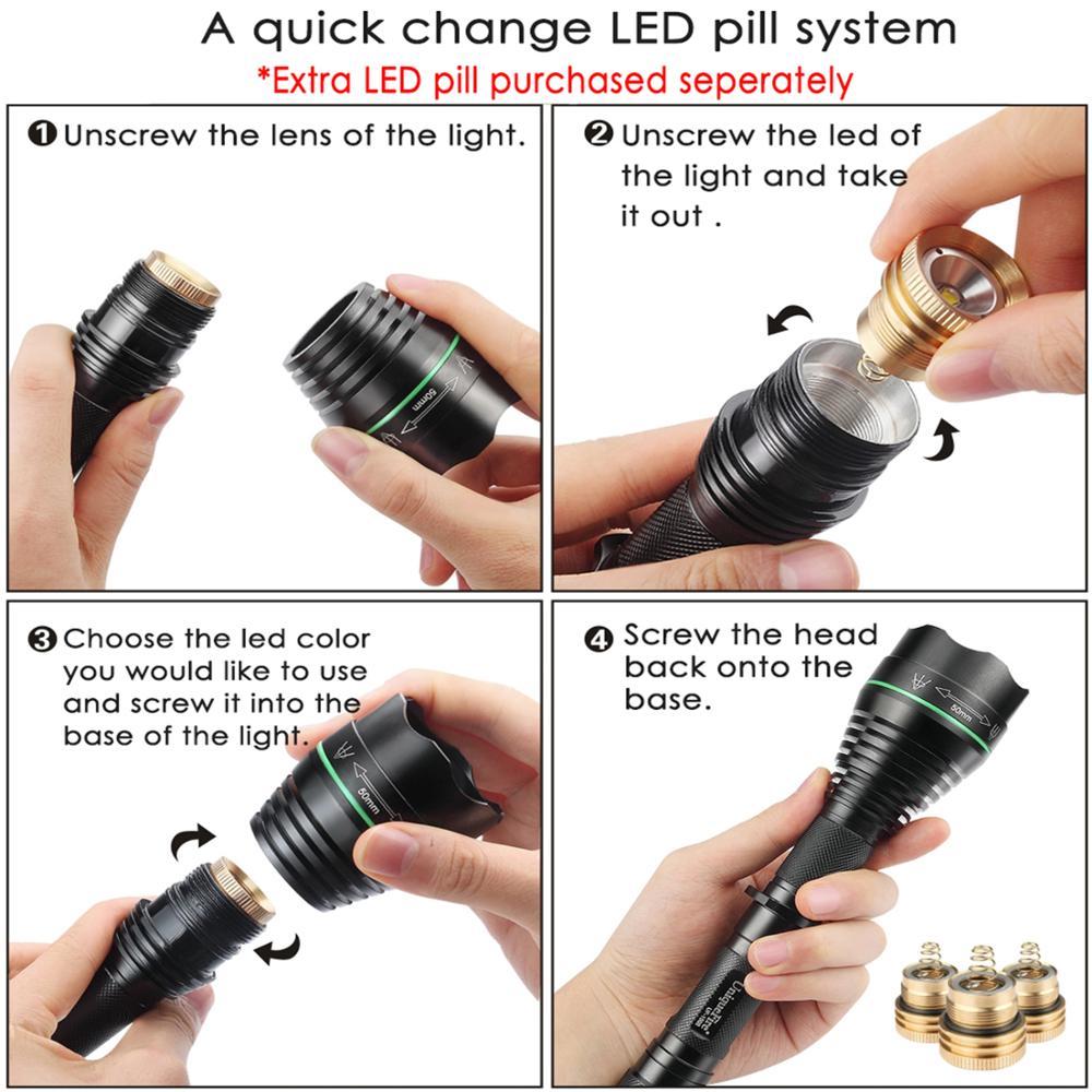 UniqueFire 1508 mbajtës i llambës rënie në modulin e pilulave të - Aksesorë ndriçimi - Foto 5