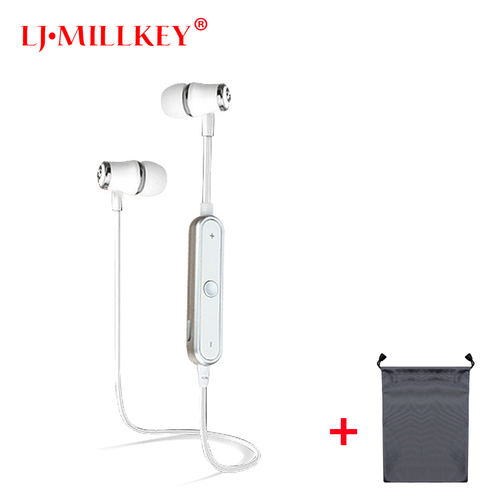 где купить S6 Bluetooth Headset Wireless Earphone BT4.1 Sports Stereo Earbuds with Mic Noise Cancelling for Running Work LJ-MILLKEY RBD001 дешево