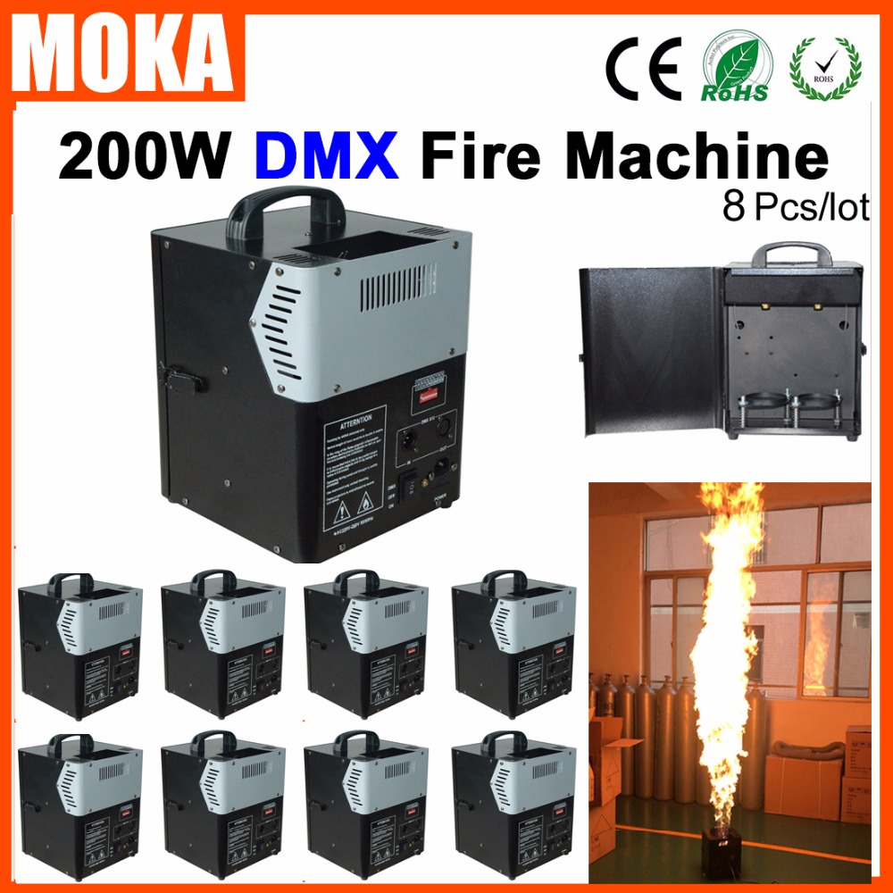 8pc/lot Stage Effect Fire Machine DMX Fire Projector Machine Flame Thrower Flame Machine Party DJ Equipment|dj equipment|fire projector|fire machine dmx - title=