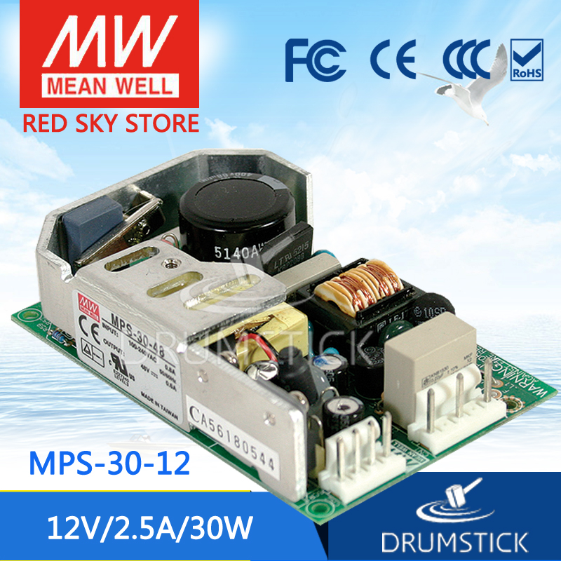 цена на Selling Hot MEAN WELL MPS-30-12 12V 2.5A meanwell MPS-30 12V 30W Single Output for Medical Type