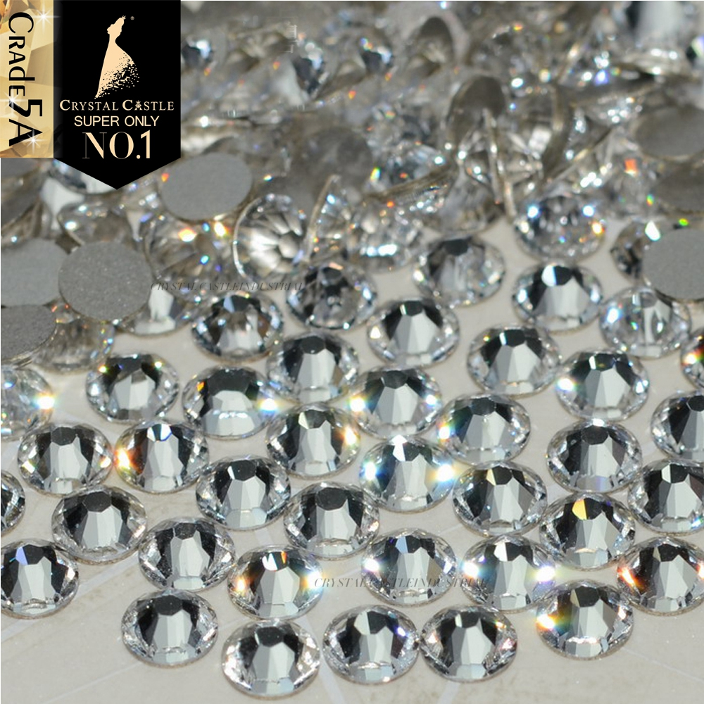 Crystal Castle No Hotfix Diy Rhinestones For Nail 5A Strass Clear Stones and Crystals Adhesive Non Hot Fix Rhinestone For Crafts