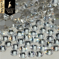 Crystal Castle No Hotfix Diy Rhinestones For Nail 5A Strass Clear Stones  and Crystals Adhesive Non 6727405dc423
