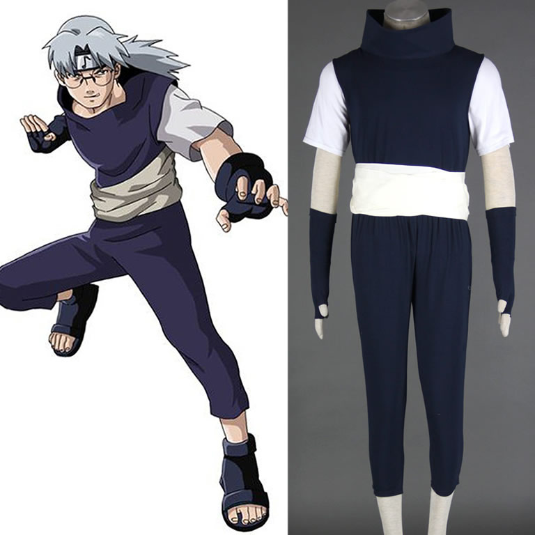 Naruto Yakushi Kabuto 1st version Men's Cosplay Costume Halloween can customized