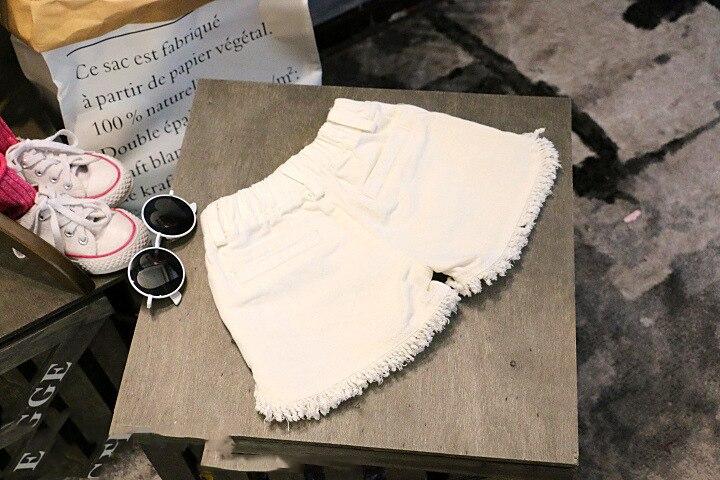 Купить детские джинсовые шорты для девочек модные из денима 2 цвета