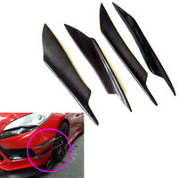 4Pcs Real Carbon Fiber Universal Car Front Bumper Splitter Canards Exterior for bmw toyota mazda vw porsche