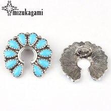 Concho цинковый сплав эмаль нерегулярные цветы синие декоративные