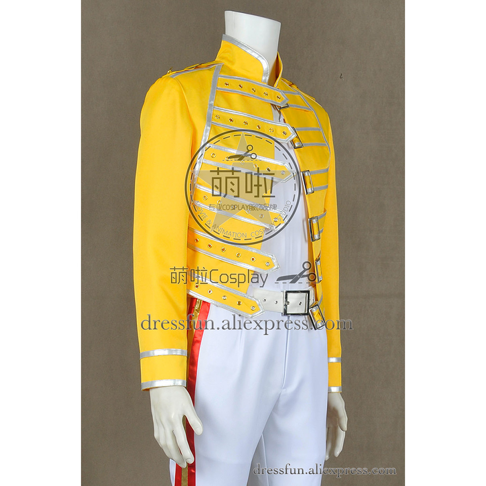 queen band cosplay lead vocals freddie mercury costume wembley