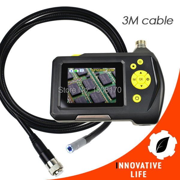 3 Meter Cable Digital Waterproof Handheld Endoscope 2.7 inch Screen Monitor 8.2mm Digital Inspection Camera System