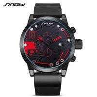 Sinobi Mens Sport Watch 2017 Top Luxury Brand Male Clock Silicone Watchband Man Dress Wrist Watches