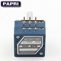 1 UNIDS 2x250KA JAPÓN ALPES RK27 Tipo 6 MM Estéreo Volumen Potenciómetro POT Atenuador de REGISTRO de Audio Amplificadores de Válvulas