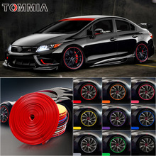 8M Car Wheel Hub Rim Edge Protector Ring Tire Strip Guard Rubber Decals For Honda Civic