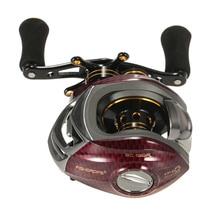 FISHDROPS 17+1 Ball Bearings Left / Right Hand Bait Casting Fishing Wheel Gear Ratio 6.3:1 Baitcasting Reel Fishing for Pesca