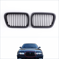 High Quality Automobiles Motorcycles Front Radiator Grills 2Pcs Matte Black Front Kidney Grille For BMW E36