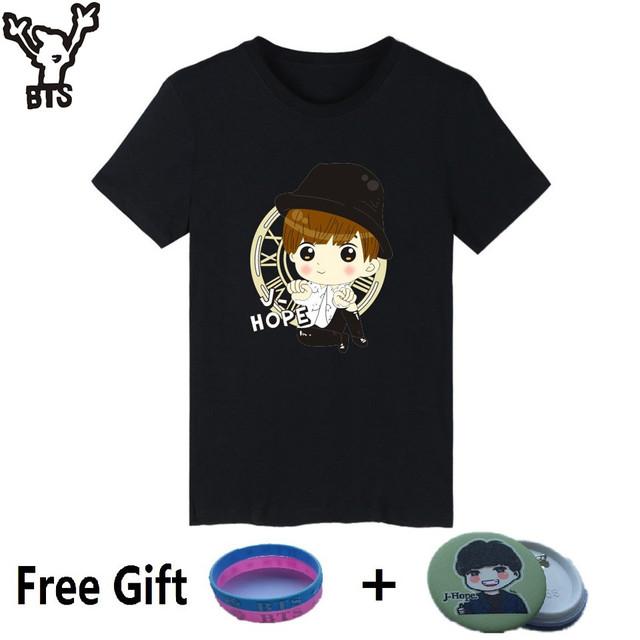 BTS Cotton Short Sleeve Top