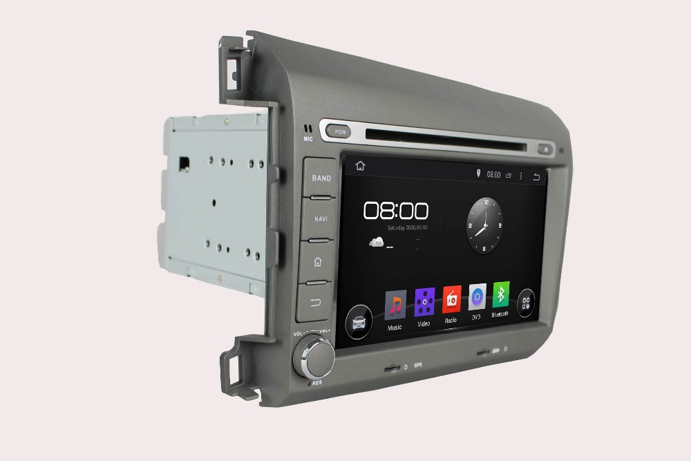 1024*600 Android 5.1 HD 2 din 8″ Car DVD Player for Honda Civic 2012 2013 With GPS 3G/WIFI Bluetooth IPOD TV Radio /RDS AUX IN