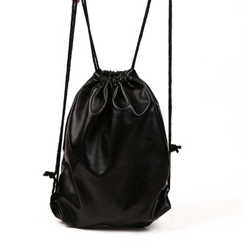 Drawstring Bag With Pu Leather Strap Pocket To Hold Drawstring Flamingo Gift Sports Bag Small Mini Travel Bags