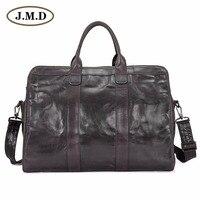 J.M.D Genuine Leather Men's Duffel Bag Popular Travel Bag 7324J
