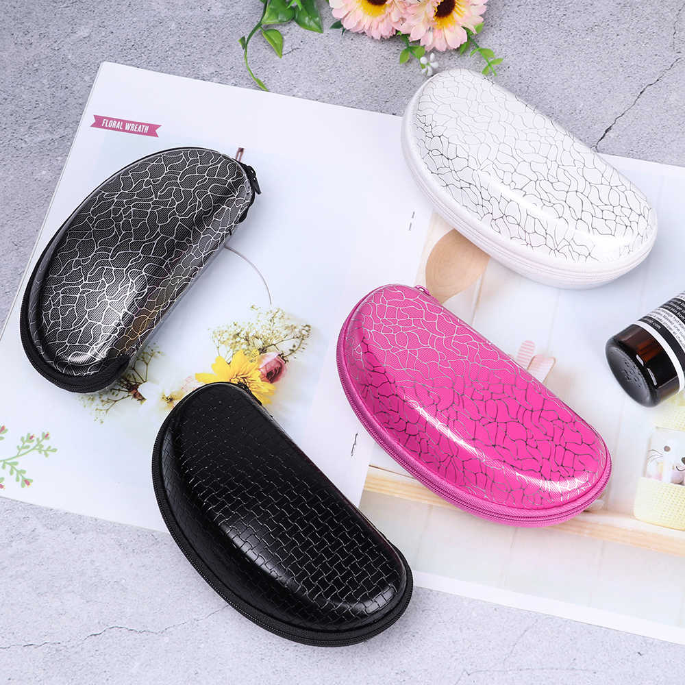 New EVA Hard Protective Shell Shape Glasses Pouch Case Box Black/White Travel Office Eyeglasses Sunglasses Reading Case