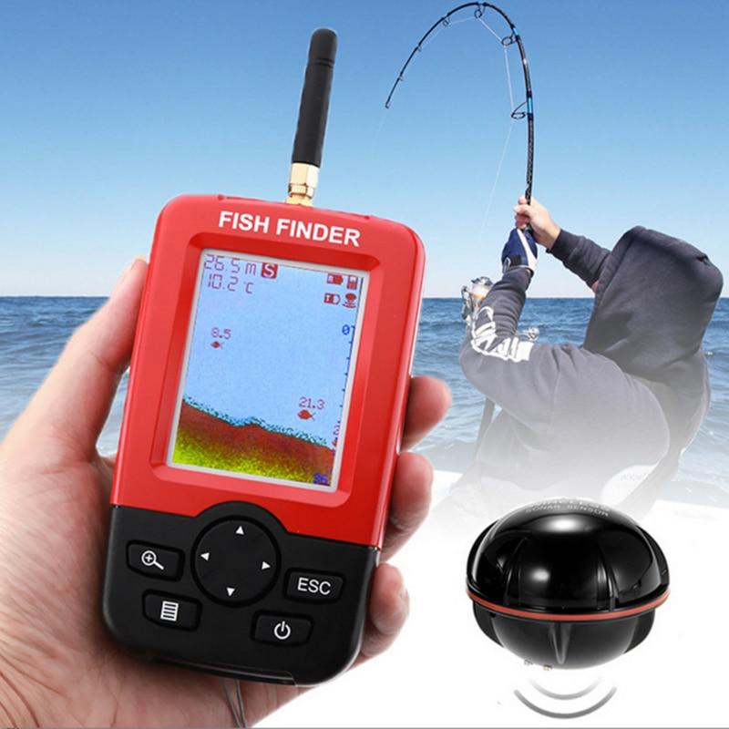 Ultra-sonar Fish Sensor Fishing Finder Alarm 100M With 2.4 inch TFT LCD Screen Fishing Tools Lure Echo Sounder Fish Detector