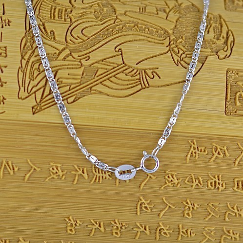 Fashion Unique Design Inner S Necklaces, 925 Sterling Silver Necklace Chains Platina Plated Neckless Women Men Jewelry ...