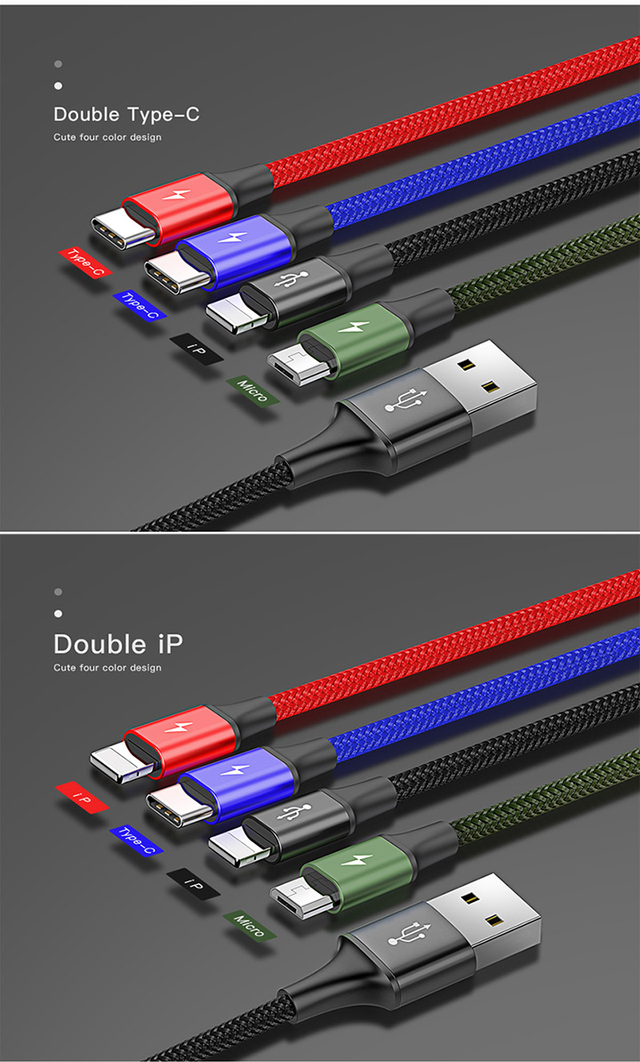 Baseus Fast 4 in 1 Rapid Series Charging Cable price in bd