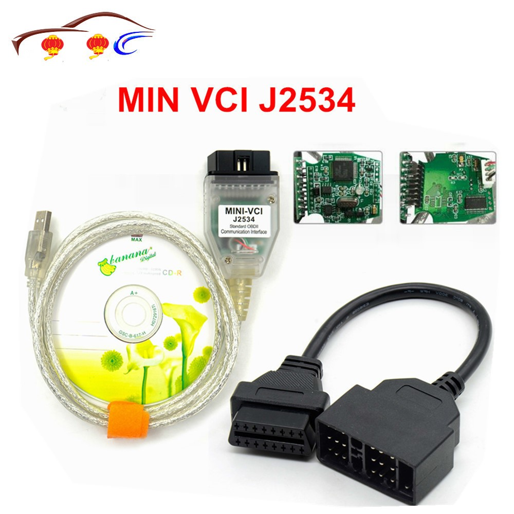 2018 Newest V10.30.029 MINI VCI Interface FOR TOY-TA TIS Techstream J2534 OBD2 OBDII Diagnostic Cable 22PIN Car Cable