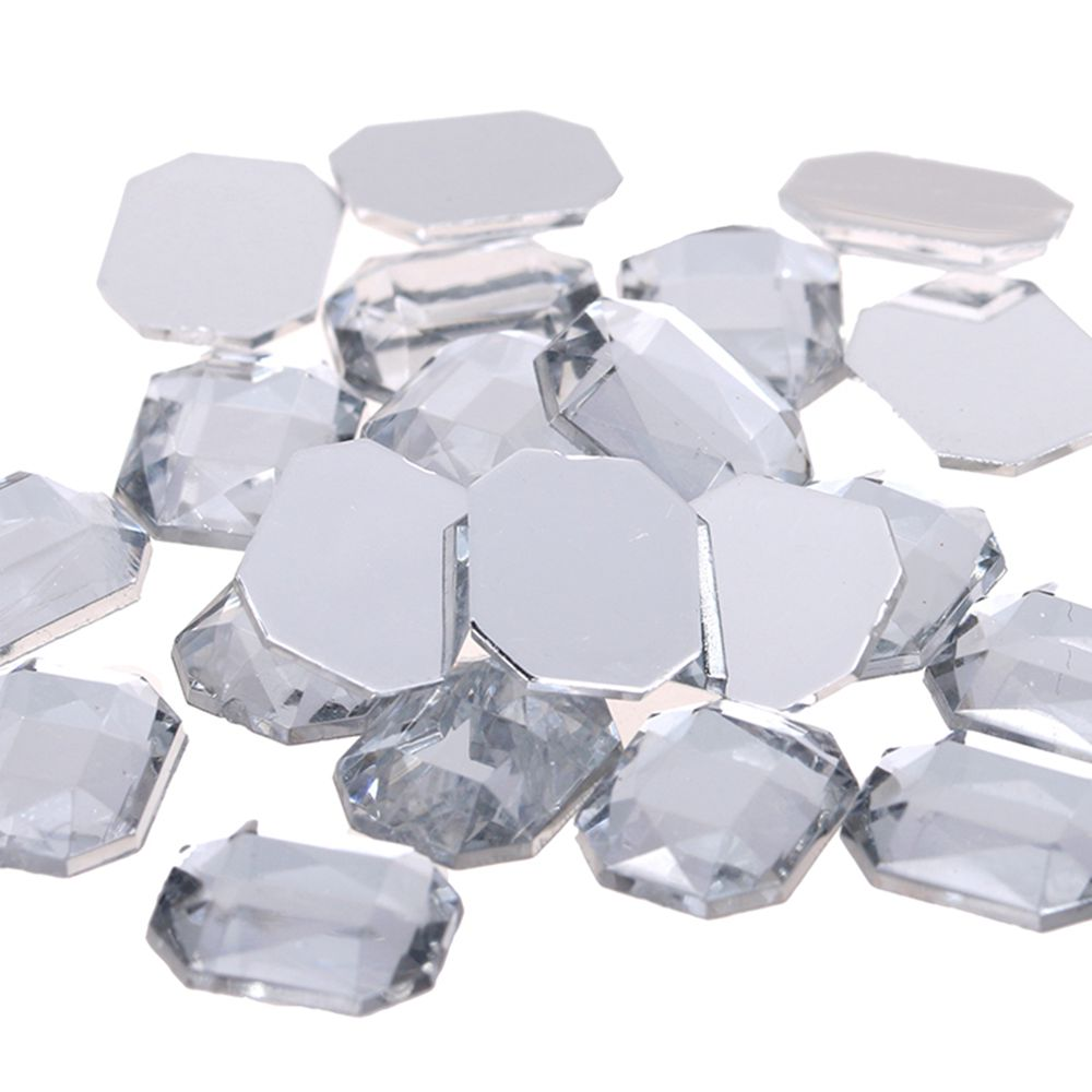 Detail Feedback Questions about Acrylic Rhinestones Rectangular Flat Facets  Many Sizes Flatback Crystal Clear Glue On Beads For Jewelry Making  Decorations ... 51aae6266314