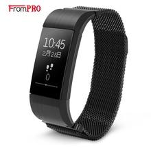 Frompro S18 Smart Браслет монитор сердечного ритма шагомер Bluetooth4.0 артериального давления фитнес-трекер Смарт-браслет для IOS Android