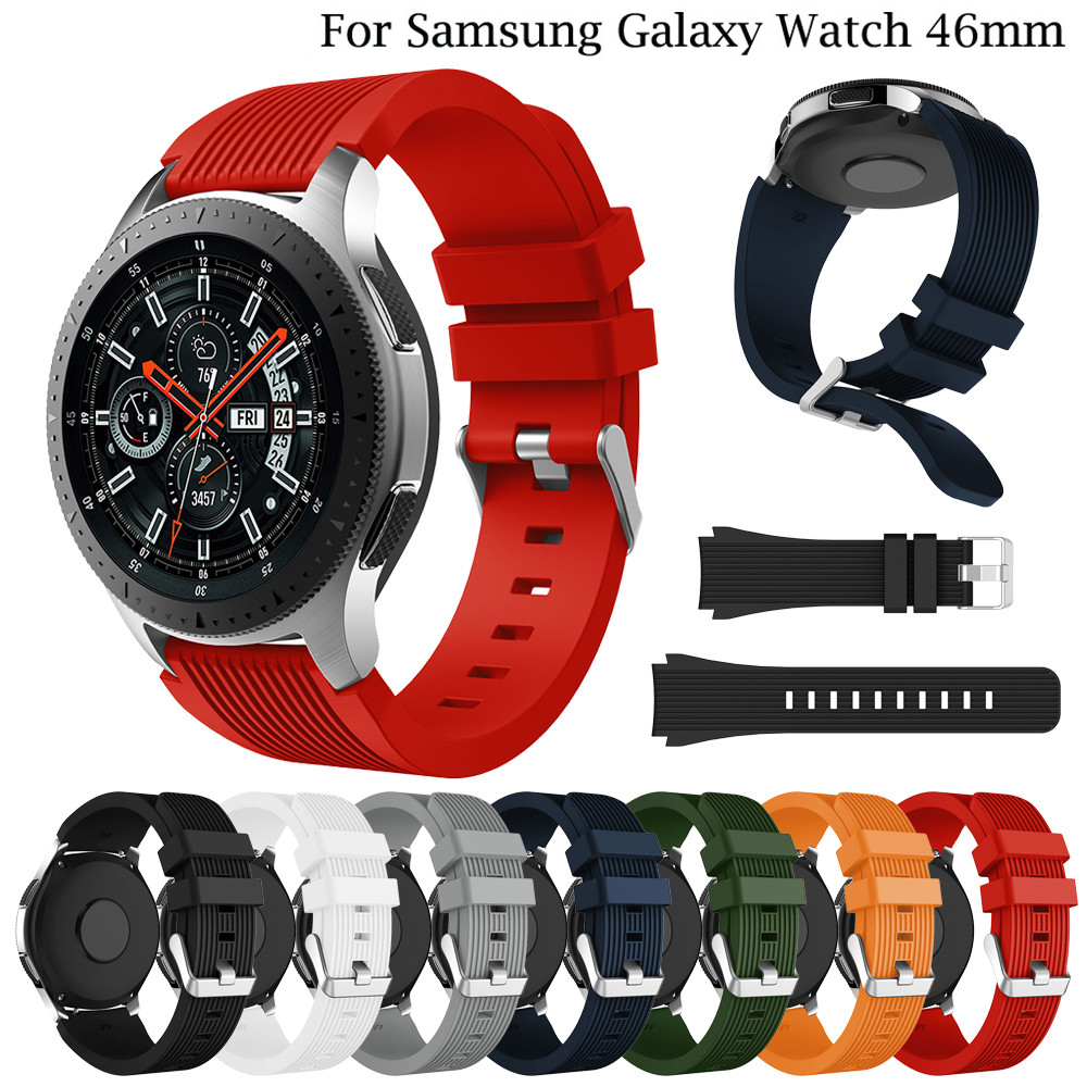 Rubber Wrist Strap For Samsung Gear S3 Frontier/Classic Silicone Watch Bands 22 Mm For Samsung Galaxy Watch 46mm Bracelet Band