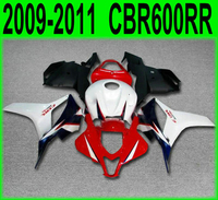 Red white For Honda fairing kit CBR600RR 2009 10 2010 09 2011 11 (100%fit +EMS free ) cbr600 rr Fairings SZ34