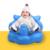 Banho de assento da Cadeira De Jantar Do Bebê Sofá Inflável PVC Carrinho de Bebé Cadeira de Segurança Portátil Assento Do Bebê Jogar Mat Jogo Bonito Do Bebê Sofá