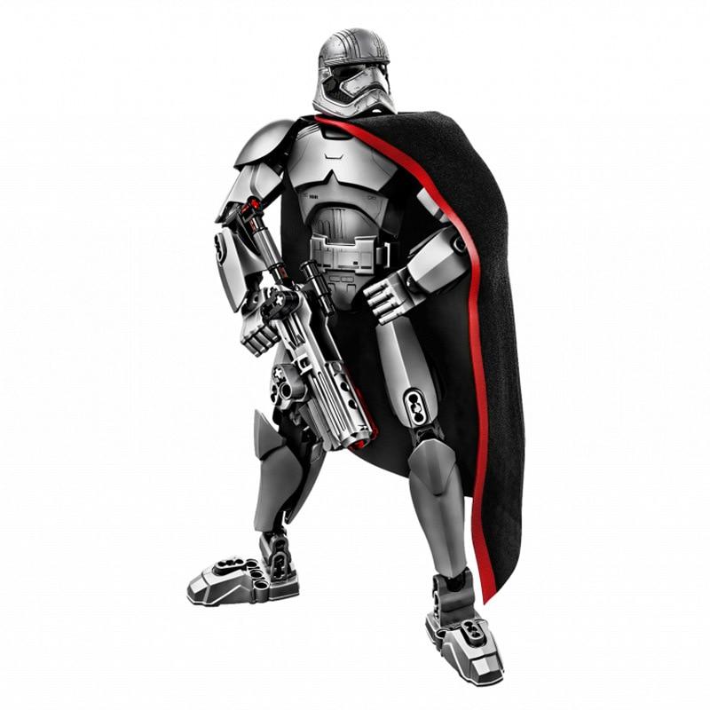 Звездные войны сборная фигура строительный блок Штурмовик Дарт Вейдер Kylo Ren Chewbacca Boba Jango Фетт фигурка игрушка для детей - Цвет: captain phasma