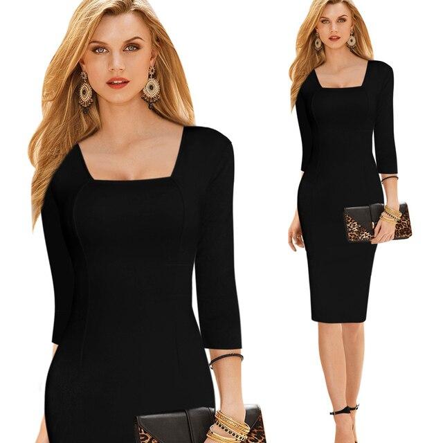 Vestido negro para el dia