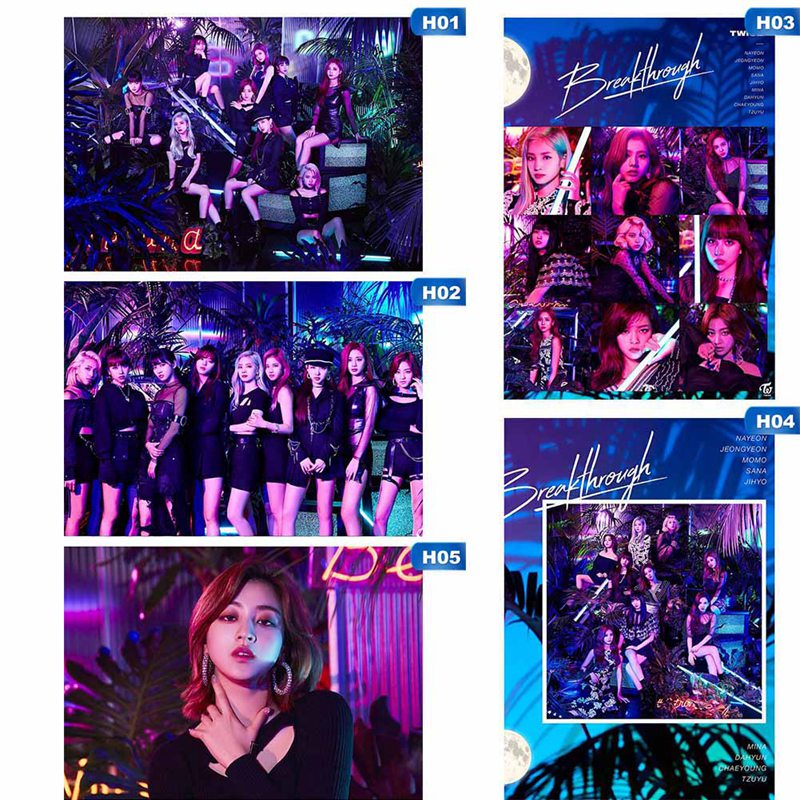 1 Pcs High Quality Different Designs Posters K-pop Girl Group Twice Small Hanging Scroll Painting Stationery Supply