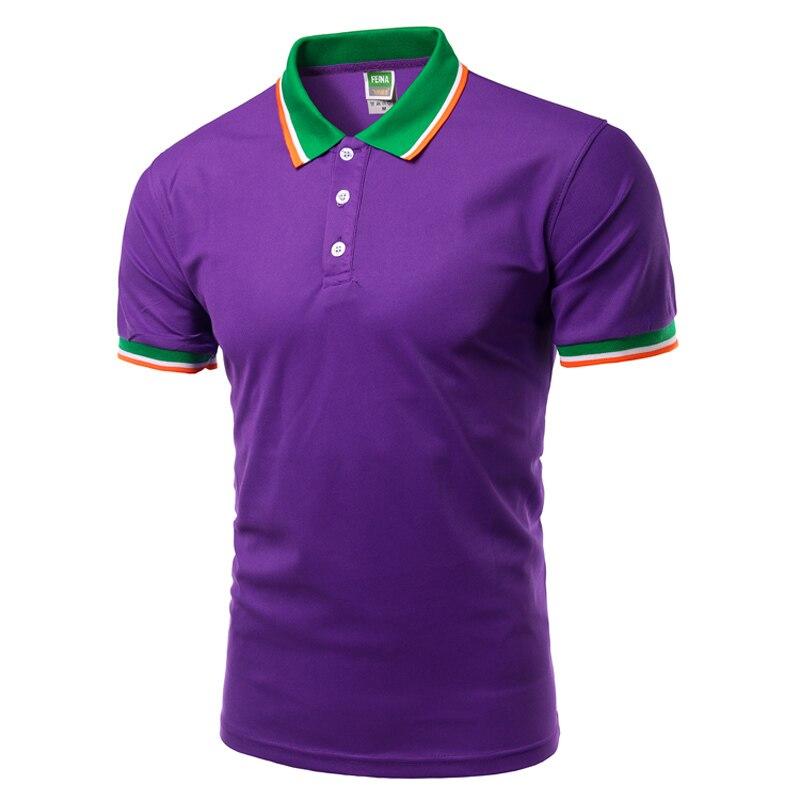 Soccer Player Mens Short-Sleeve Polo Sport Shirt