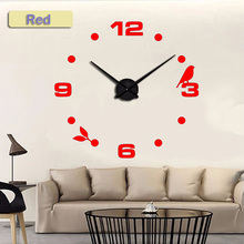 Black Black Cat bird Quartz Wall Clocks Home Decor Orologio muro  Factory 2018 New Modern DIY Livingroom Creative Watch Wall