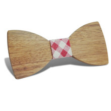 Customize Small Size Boys Wooden Bow Ties Bowties Butterfly School Child Student Wood Tie Groom Prom Party Accessories