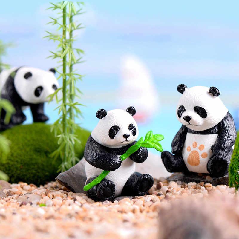 1PC แฟชั่น Figurines เรซิ่น Miniatures สัตว์กวางน่ารักงานฝีมือม้านกฮูก PANDA หมูบ้านตกแต่งสวนประดับ