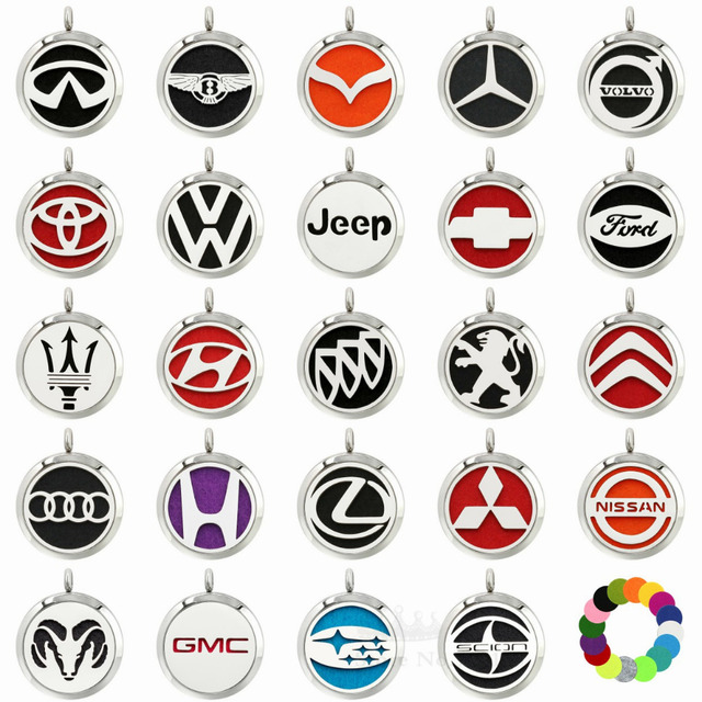 316l Stainless Steel Car Logos Magnetic Twist 30mm Aromatherapy