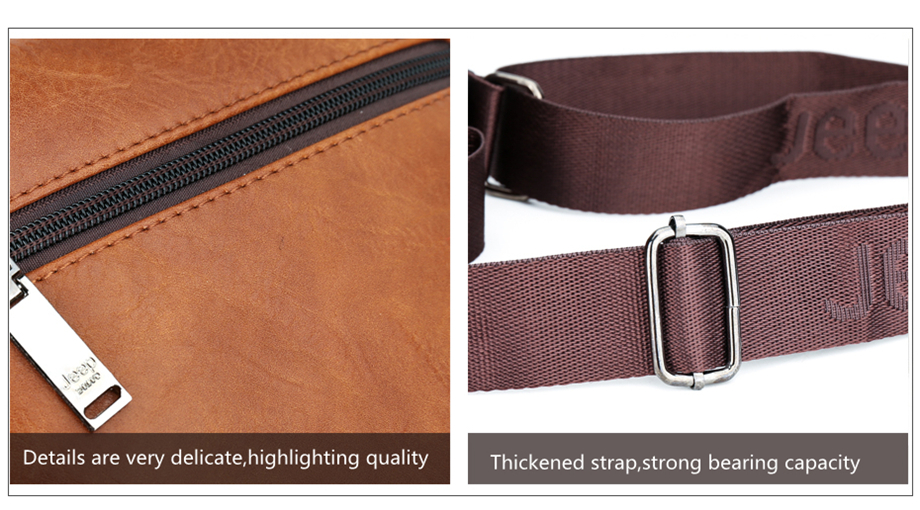 JEEP BULUO Luxury Brand Men Messenger Bags Crossbody Business Casual Handbag Male Spliter Leather Shoulder Bag Large Capacity 21