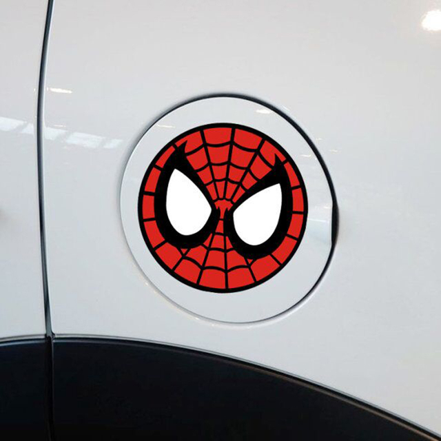Cute personalized car stickers spider round face funny decal for ford focus fiesta volkswagen skoda golf