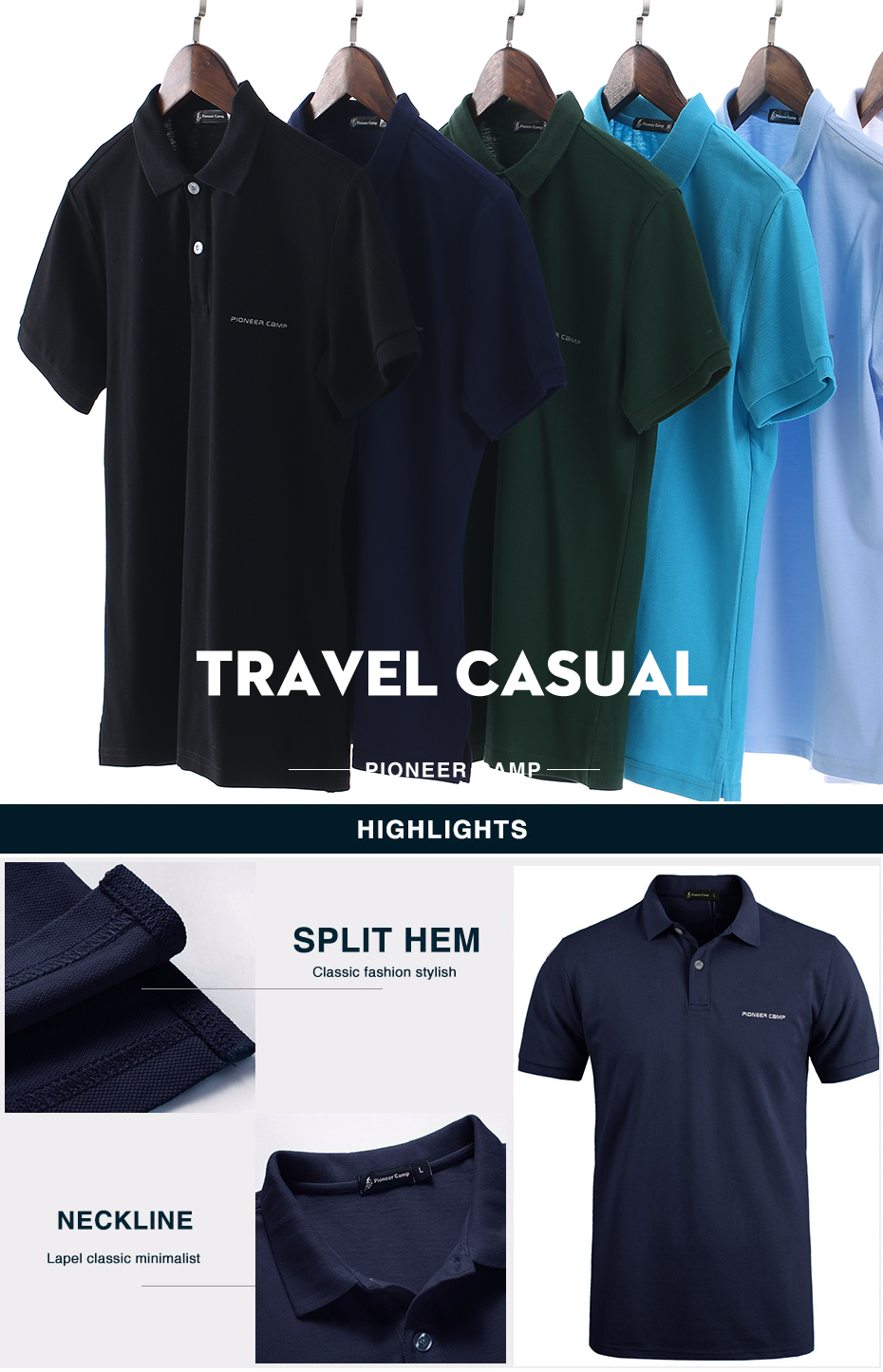 Men Polo Shirt Men Business Casual Solid Male Polo Shirt Short Sleeve High Quality Pure Cotton 12