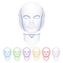 7 Colors LED Light Photon Face Neck Mask Rejuvenation Skin Therapy Anti Wrinkles Facial Dropshipping
