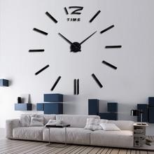 diy wall clock living room new acrylic quartz watch  3d clocks reloj de pared home decoration hot Metal wall Sticker