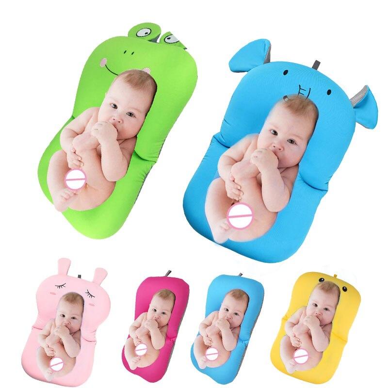 Cartoon Baby Bath Tub Newborn Foldable Bath Tubs Pad Newborn Bathtub ...
