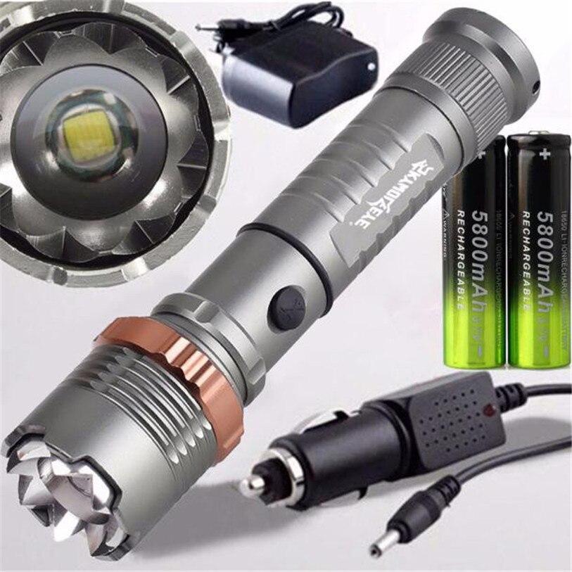 USB XM L2 T6 LED Scheinwerfer Taschenlampe BikeLight 18650 Wiederaufladbare RU