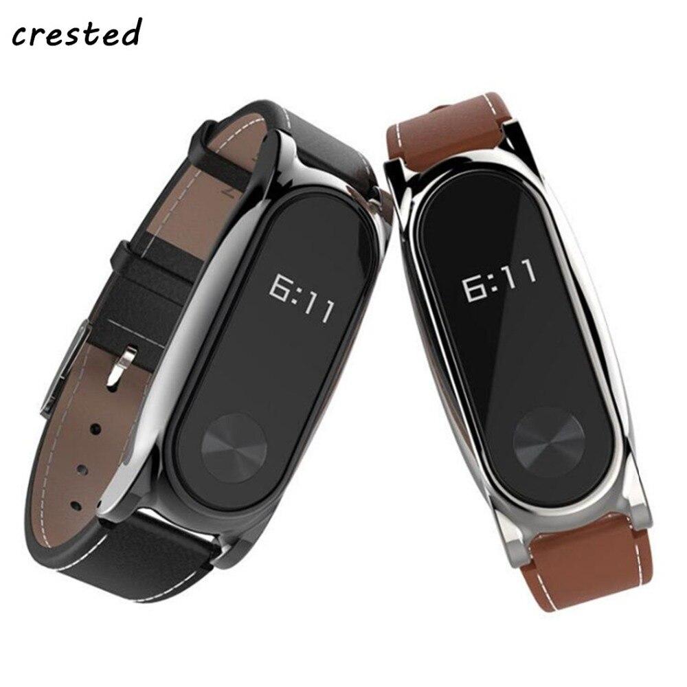 Leather Bracelet For Xiaomi Mi Band 2 Strap Miband 2 wrist strap Screwless smartband wristband For xiaomi mi band2 accessories