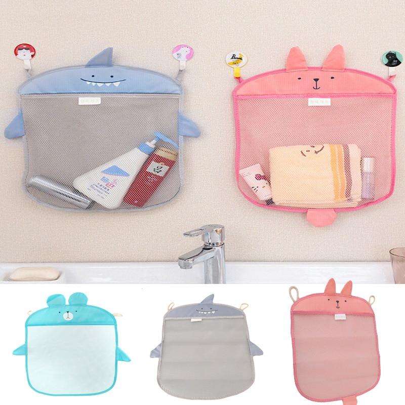 Bathroom Storage Bag Kids Baby Bath Tub Toy Tidy Storage Suction Cup Bag Mesh Bathroom Organiser Net Bath Toys