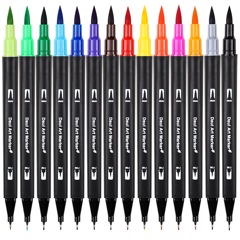 60/72/100 Color Dual Tips Brush Pen Set Water Based Ink Brush Marker for Drawing Painting Watercolor Marker Pen School Supplies
