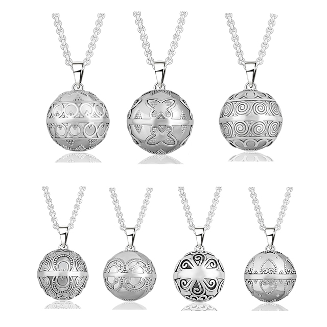 Retail Mix Sale Baby Angel Caller 20mm Silver Plated Eudora Harmony Ball Ringing Chime Pendant Necklace Jewelry Pregnant Gift